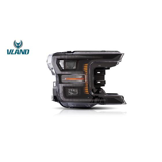 Vland,Black,Headlights,For,2018+,Ford,F150