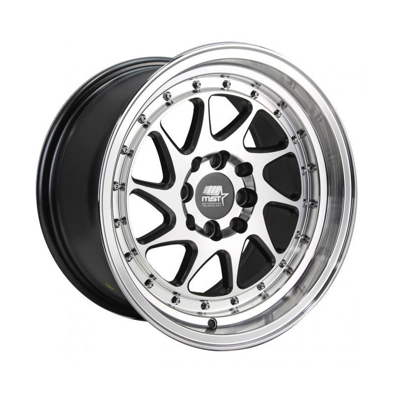 MST Wheels MT28 15x8 +20 73.1 - Gunmetal w/Machine