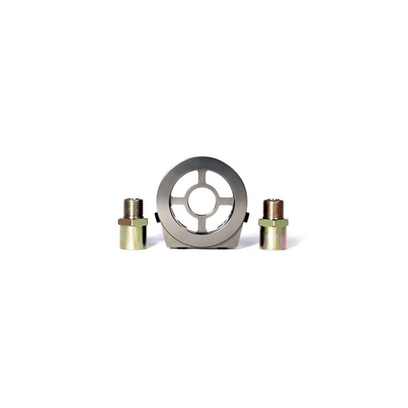 BLOX Racing Oil Filter Block Adapter Silver / For