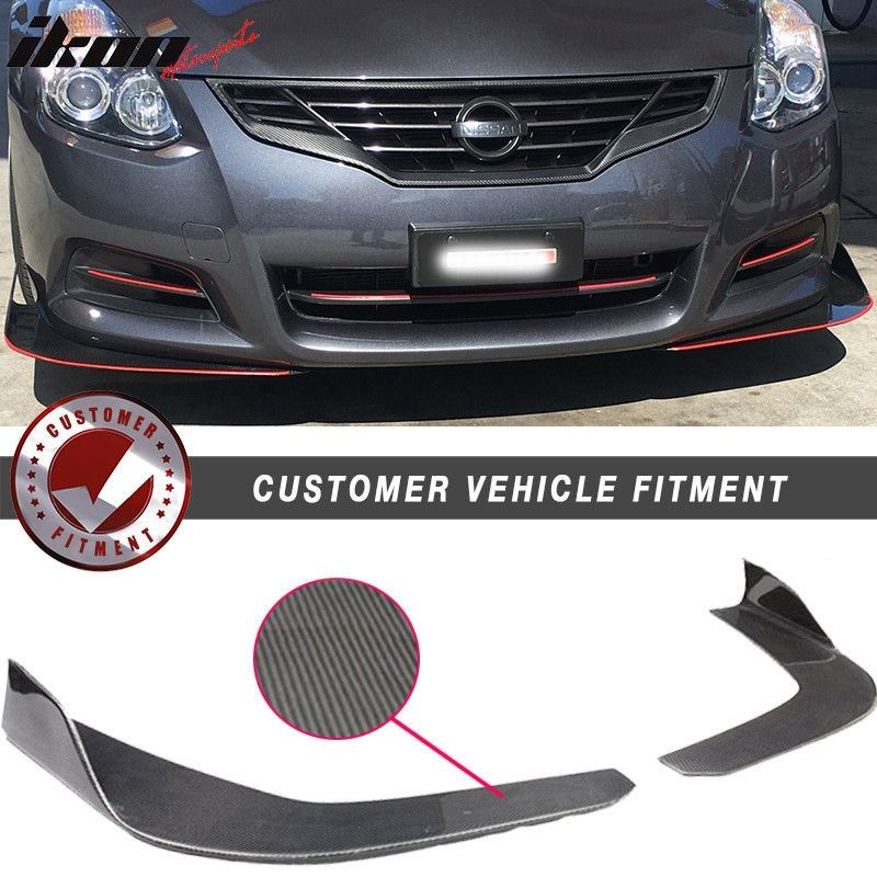 Universal Fit Carbon Fiber CF Winglet Type 3 Front