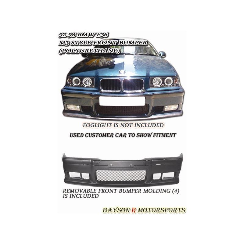 92-98 BMW E36 2/4Dr M3 Style Front Bumper (Polyure