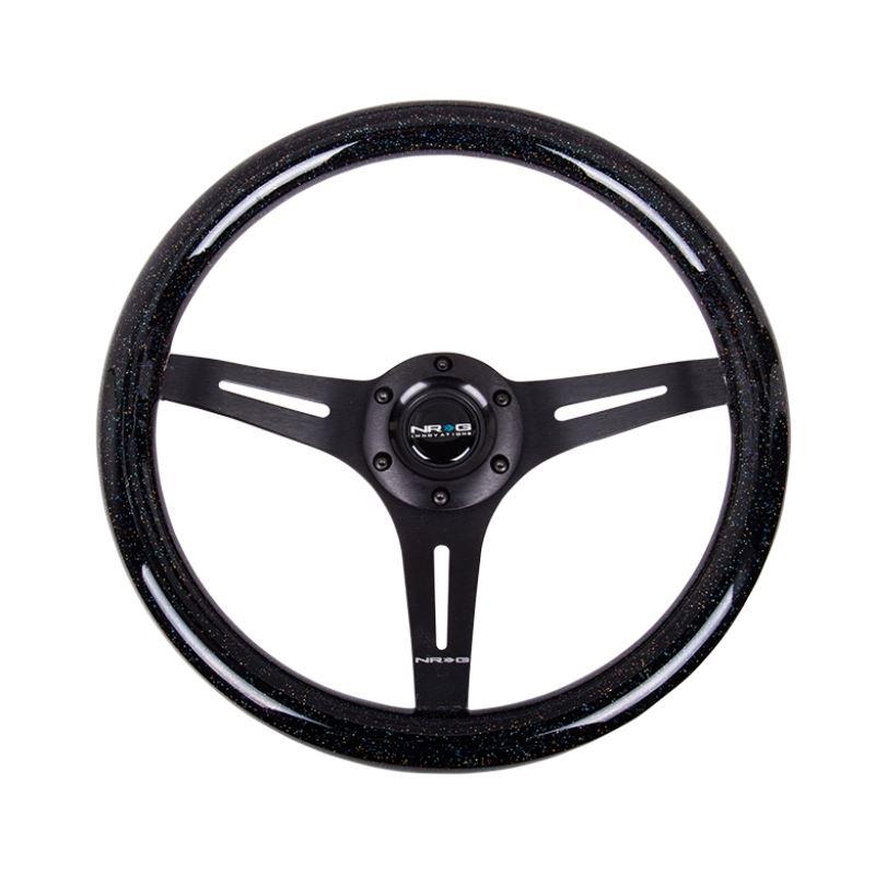 NRG Classic Wood Grain Steering Wheel (350mm) Blac