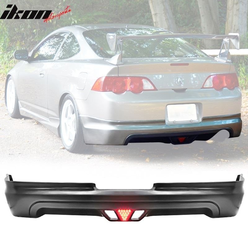 02-04 Acura RSX Mugen Style Rear Lip Diffuser  LED
