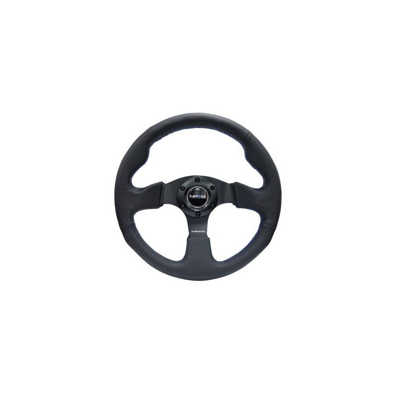 NRG Reinforced Steering Wheel (320mm) Black Leathe