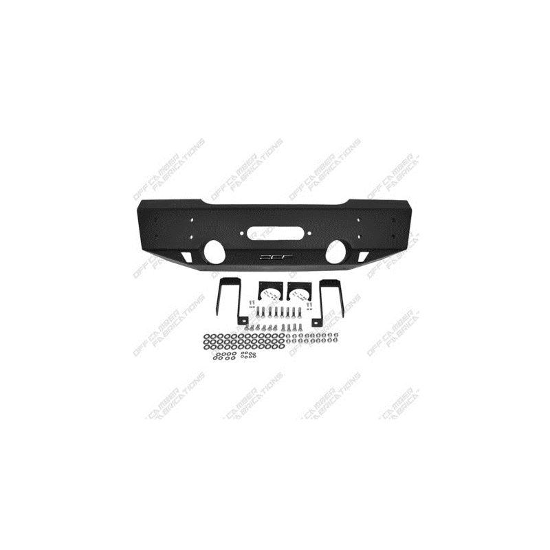 MBRP 07-10 Jeep Wrangler JK Front Stubby Winch Bum
