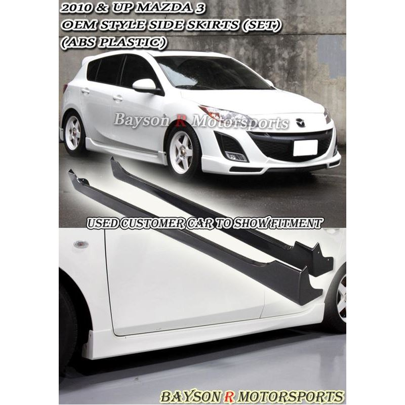 Bayson R OE STYLE SIDE SKIRTS FOR 2010-2013 MAZDA