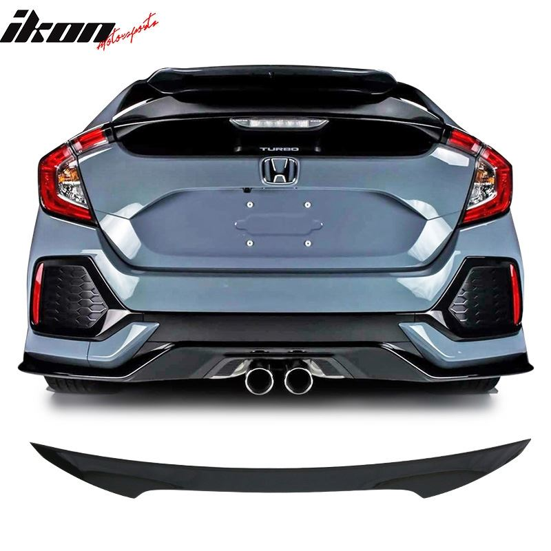 17-21 Civic 5Dr Hatchback Trunk Spoiler Painted Gl