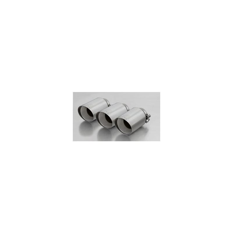 REMUS tail pipe set 3 tail pipes 102 mm angled, st