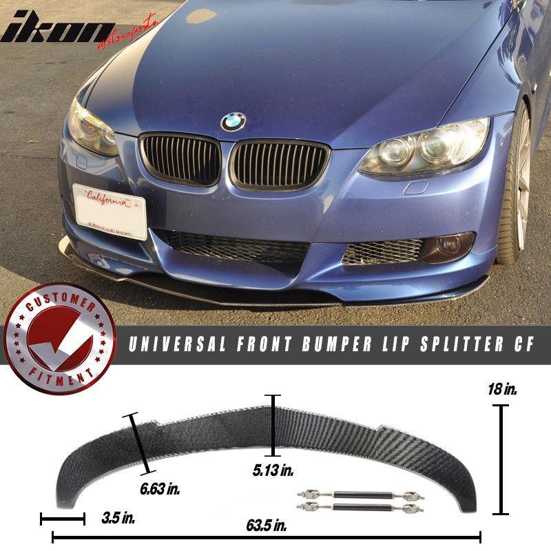 Universal Front Bumper Lip Splitter Spoiler Carbon