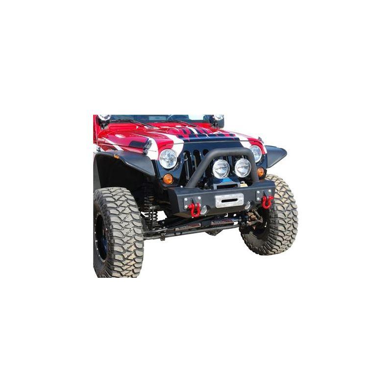 MBRP 07-18 Jeep Wrangler JK Front Stubby Winch Bum