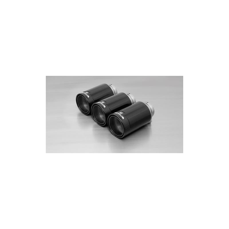 REMUS tail pipe set 3 Carbon tail pipes 102 mm ang