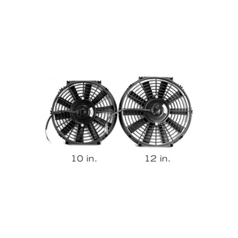 BLOX Racing 12inch Electric Slim Fan - Black