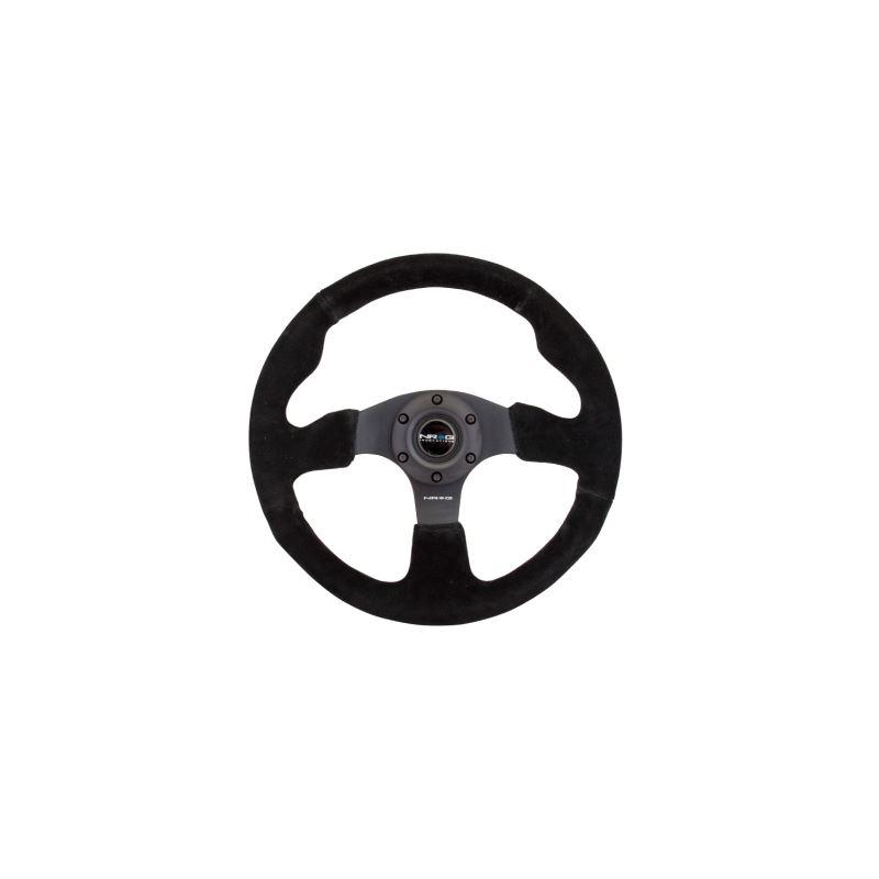 NRG Reinforced Steering Wheel (320mm) Suede w/Blac