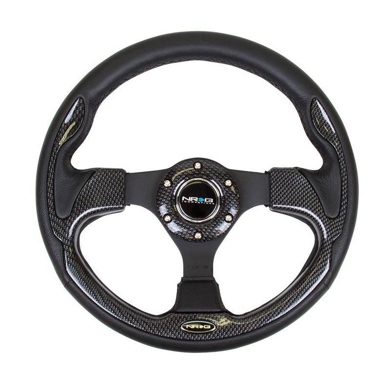 NRG Reinforced Steering Wheel 320mm Sport w/ Carbo
